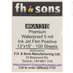 InkJet Film Premium Waterproof (100 sheets)